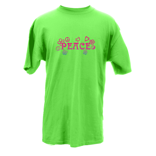 Beyond The Pond Adult Peace Word Short Sleeve T-Shirt