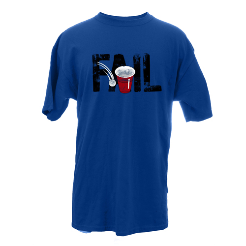 Beyond The Pond Adult Beer Pong Fail Short Sleeve T-Shirt