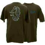 Peace Frogs Happy to Be Here Seahorse Short Sleeve T-Shirt