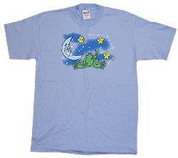 Peace Frogs Adult Night Sky Short Sleeve T-Shirt