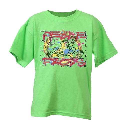 Peace Frogs Kids Graffitti Short Sleeve T-Shirt