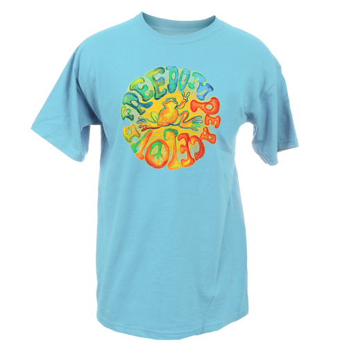 Peace Frogs Adult Watercolor Short Sleeve T-Shirt