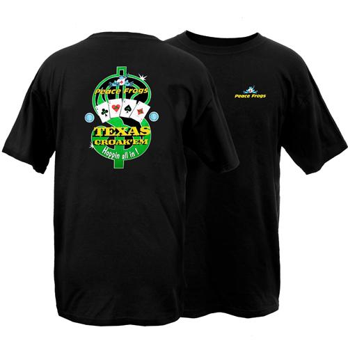 Peace Frogs Adult Texas Croakem Short Sleeve T-Shirt