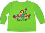 Peace Frog Retro Frog Toddler Long Sleeve T-Shirt