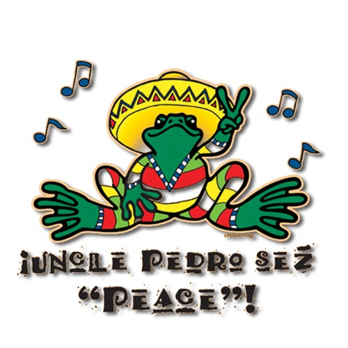 Peace Frogs Uncle Pedro Sticker