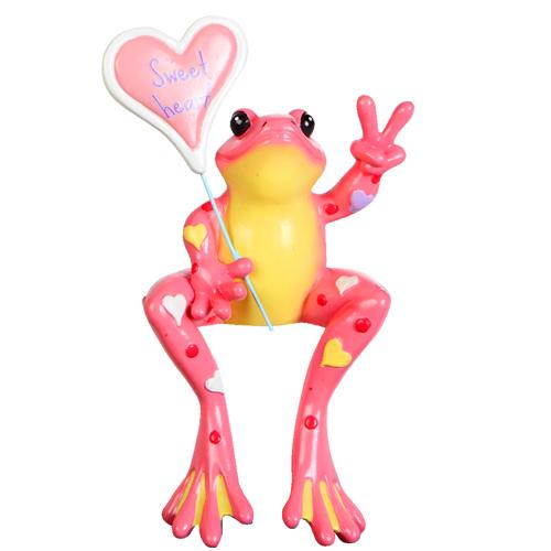 Peace Frogs Sweatheart Frog Shelf Sitter