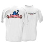 Peace Frogs Adult American Frog T-Shirt