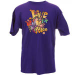 Peace Frogs Adult Live for Peace Short Sleeve T-Shirt