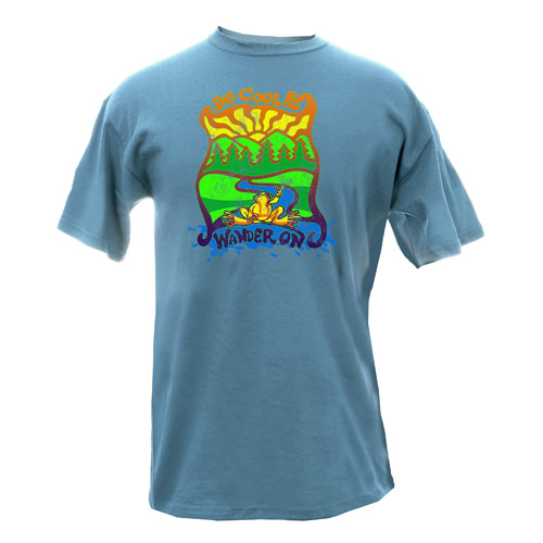 Peace Frogs Adult Be Cool Garment Dye Short Sleeve T-Shirt