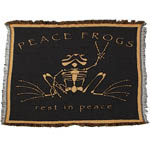 Peace Frogs Rest in Peace Afghan