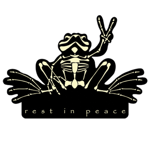 Peace Frogs Rest In Peace Car Magnet