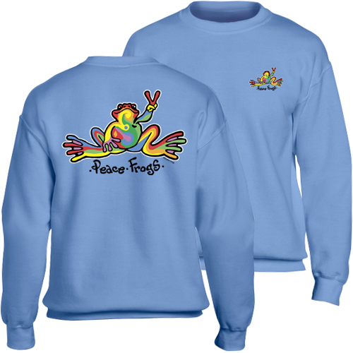 Peace Frogs Retro Adult Crewneck Sweatshirt