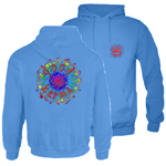 Peace Frogs Good Karma Printed Adult Hooded Pullover Sweatshirt