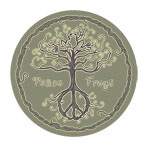 Peace Frogs Wild Tree Sticker