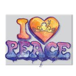 Peace Frogs I Love Peace Sticker