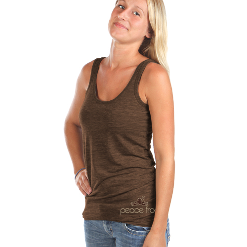 Peace Frogs Burnout Tank