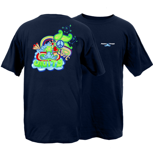 Peace Frogs Adult Unity Short Sleeve T-Shirt