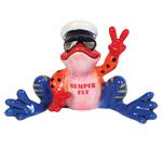 Peace Frogs Marine Figurine