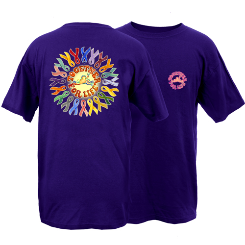Peace Frogs Adult Ribbons Short Sleeve T-Shirt