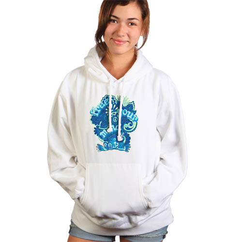 Peace Frogs Free Your Mind Junior Hooded Pullover Sweatshirt