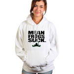 Peace Frogs Mean Frogs Junior Hooded Pullover Sweatshirt