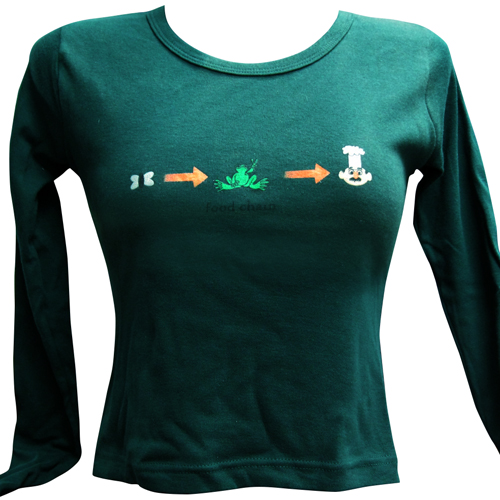 Peace Frogs Junior Hunter Food Chain Crop Long Sleeve T-Shirt