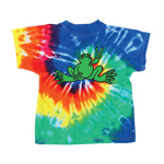 Peace Frogs Infant Green Frog Tie Dye Spiral Short Sleeve T-Shirt