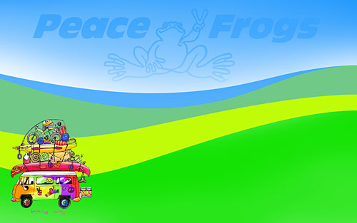 peace frogs groovy amp retro 60s wallpapers amp screensavers - 500×313