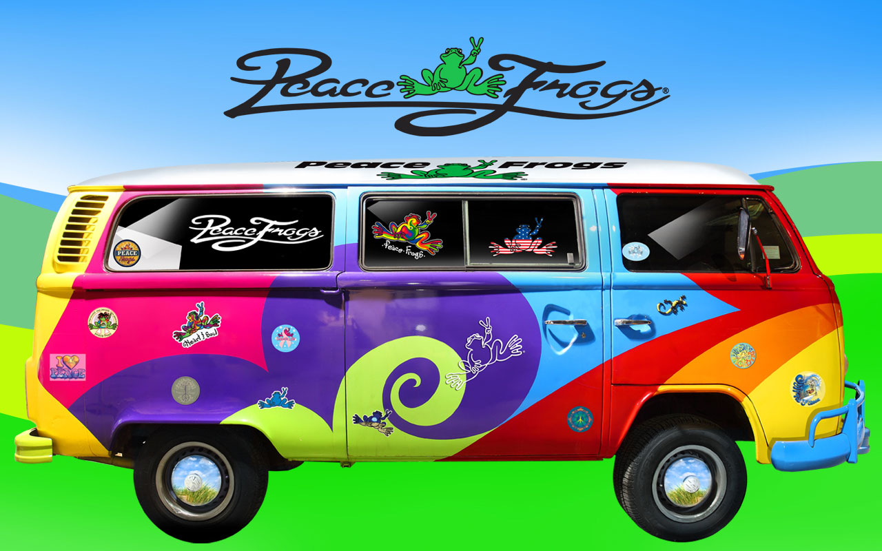 peace frogs groovy amp retro 60s wallpapers amp screensavers - HD 1280×800