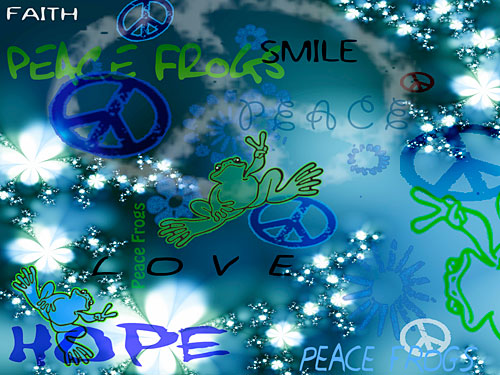 """Kinda Blue"" - Peace Frogs Free Wallpaper Download"