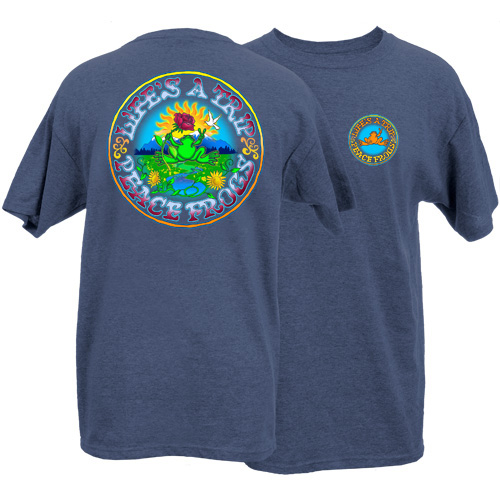 Peace Frogs Adult Life's A Trip Short Sleeve T-Shirt