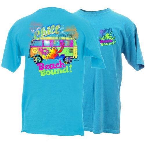 Peace Frogs Adult Beach Bound Garment Dye Short Sleeve T-Shirt
