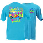 Peace Frogs Adult Beach Bound Garment Dye Short Sleeve T-Shirt