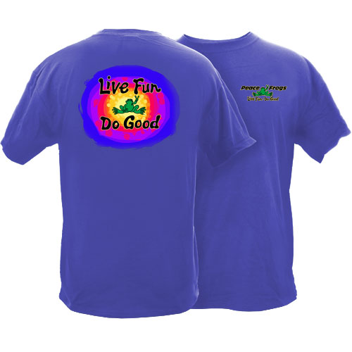 Peace Frogs Adult Do Good Garment Dye Short Sleeve T-Shirt
