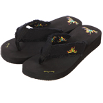 Peace Frogs Women's Wedge Thong Flip Flops