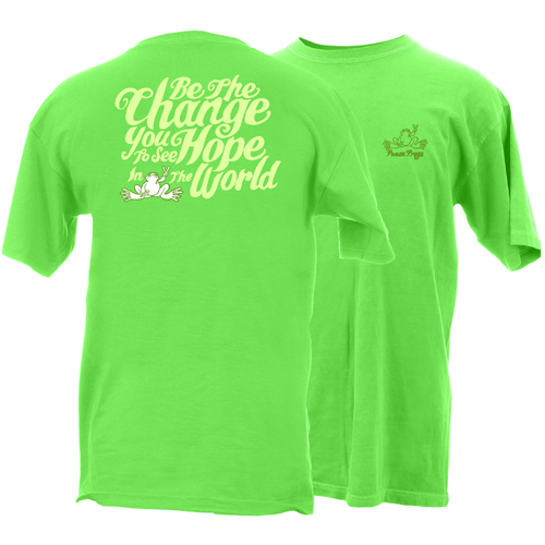 Peace Frogs Adult Be The Change Short Sleeve T-Shirt