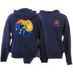 Peace Frogs Sun Moon Yin Yang Adult Hooded Pullover Sweatshirt