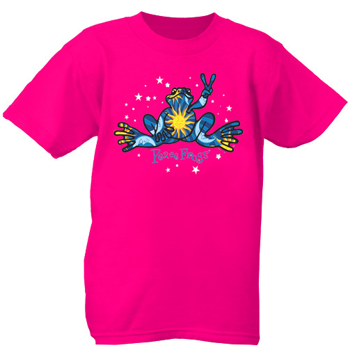 Peace Frogs Night and Day Short Sleeve Kids T-Shirt