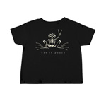 Peace Frogs Rest In Peace Frog Toddler Short Sleeve T-Shirt