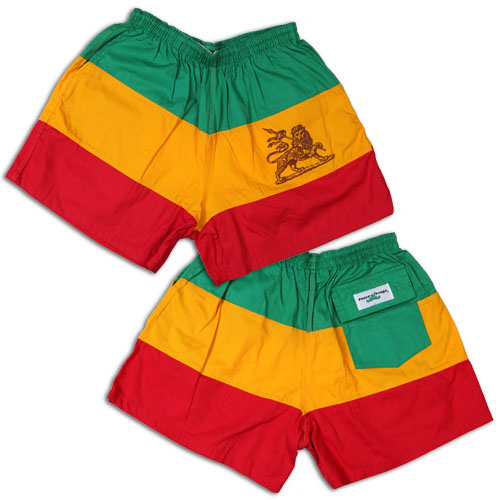 Peace Frogs Ethiopia  Flag Shorts