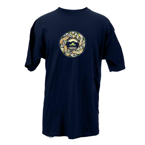 Peace Frogs Adult Path Less Travel Organic Garment Dye Short Sleeve T-Shirt