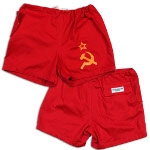 Peace Frogs USSR Flag Shorts