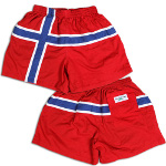 Peace Frogs Norway Flag Shorts