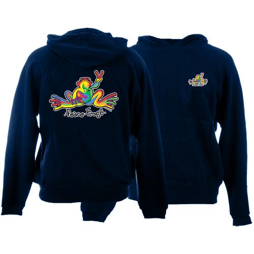 Peace Frogs Retro Printed Kids Hooded Pullover Sweatshirt