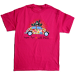 Peace Frogs VW Bug Frog Short Sleeve T-Shirt