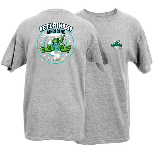 Peace Frogs Adult Veterinary Medicine Frog Short Sleeve T-Shirt
