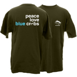 Peace Love Blue Crabs Be The Bay Short Sleeve T-Shirt