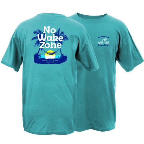 Peace Frogs No Wake Zone Frog Garment Dye Short Sleeve T-Shirt