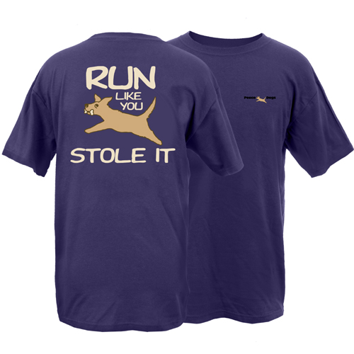 Run Like You Stole It Peace Dogs Short Sleeve Garment Dye T-Shirt
