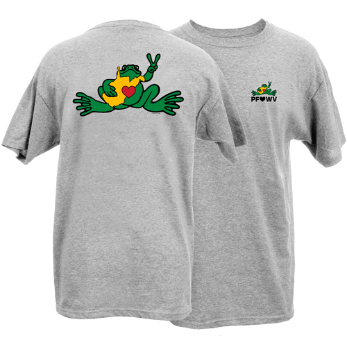 Peace Frogs Loves West Virginia Frog Short Sleeve T-Shirt